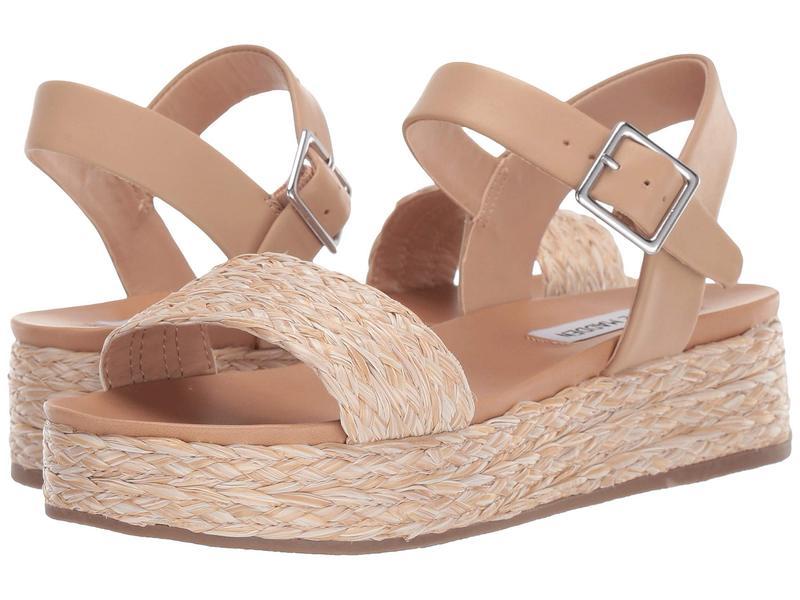 スティーブ マデン レディース ヒール シューズ Accord Platform Sandals Natural Raffia
