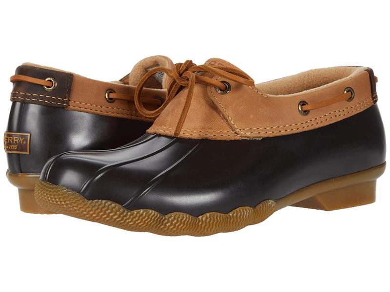 スペリー レディース ブーツ・レインブーツ シューズ Saltwater 1-Eye Duck Boot Tan/Brown