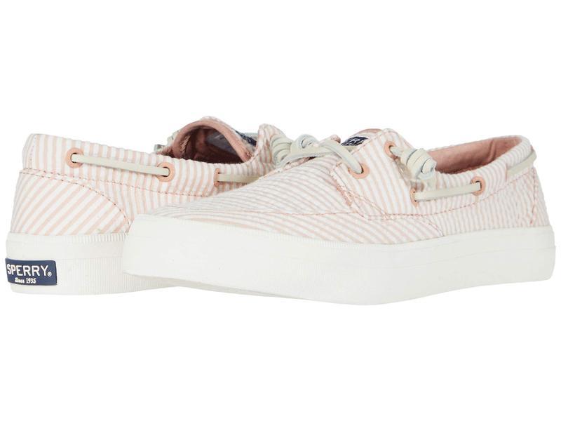 スペリー レディース スニーカー シューズ Crest Boat Seersucker Coral/White