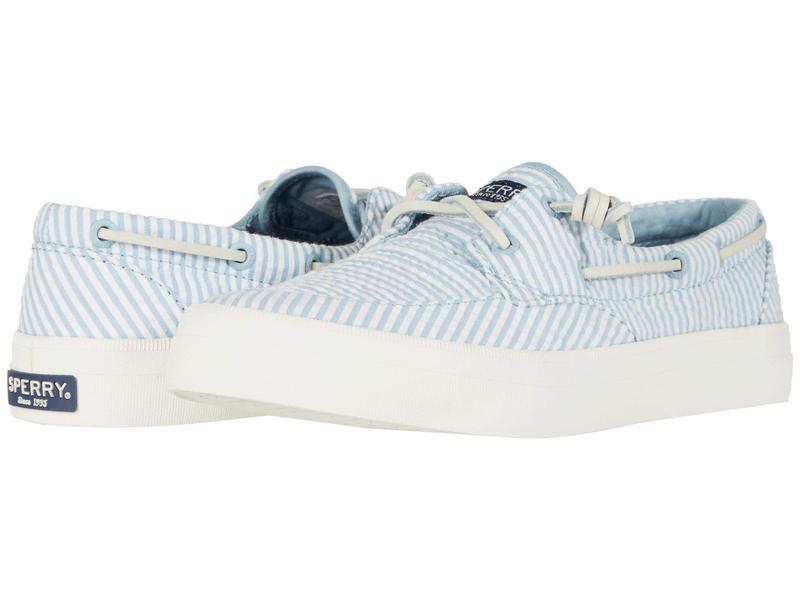 スペリー レディース スニーカー シューズ Crest Boat Seersucker Blue/White