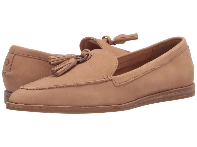 スペリー レディース スリッポン・ローファー シューズ Saybrook Slip-On Leather Tan