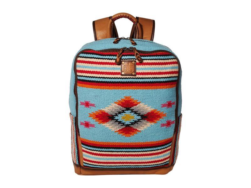 エスティエスランチウェア レディース バックパック・リュックサック バッグ Saltillo Backpack Light Blue/Oran
