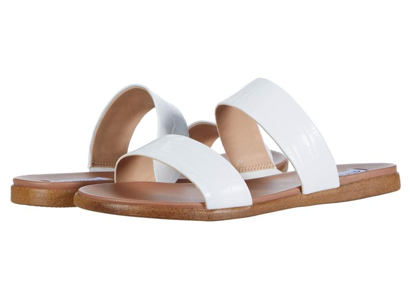 スティーブ マデン レディース サンダル シューズ Dual Flat Sandal White Croco