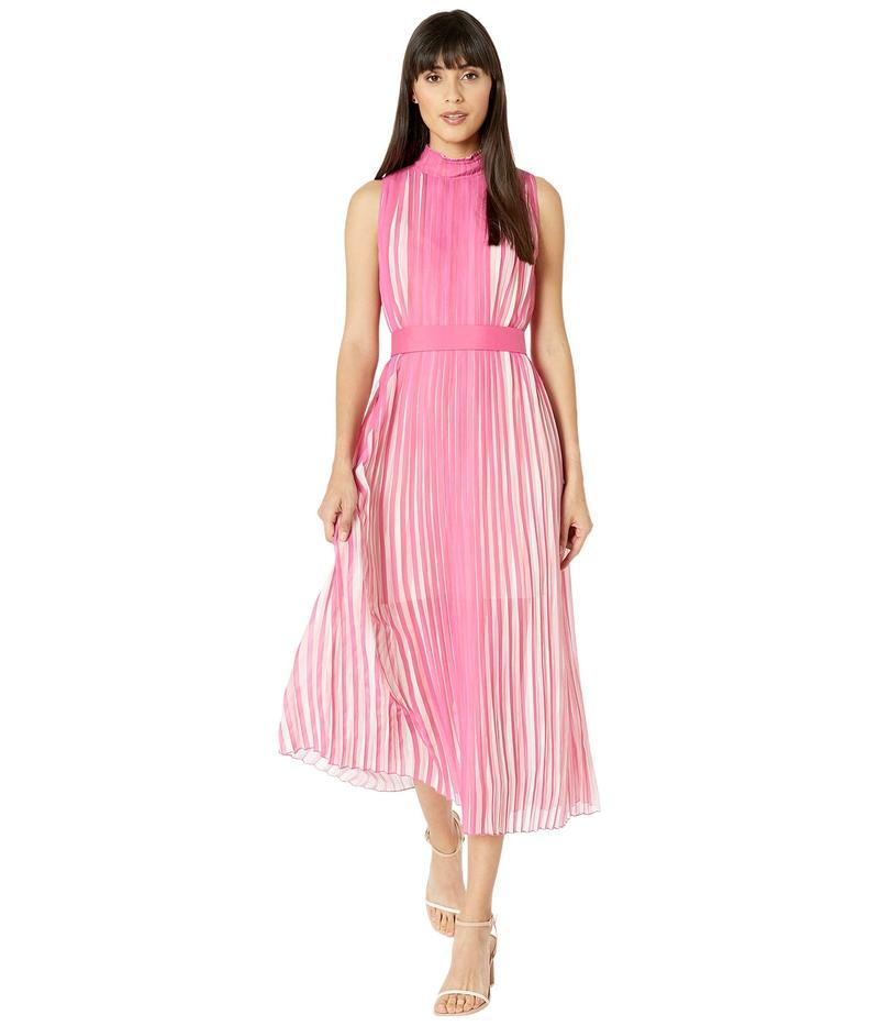 ビーシービージーマックスアズリア レディース ワンピース トップス Rainbow Pleated Midi Dress Ibis Rose/Water