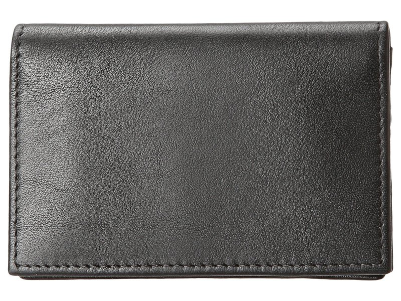 ボスカ メンズ 財布 アクセサリー Nappa Vitello Collection - Gusseted Card Case Black Leather
