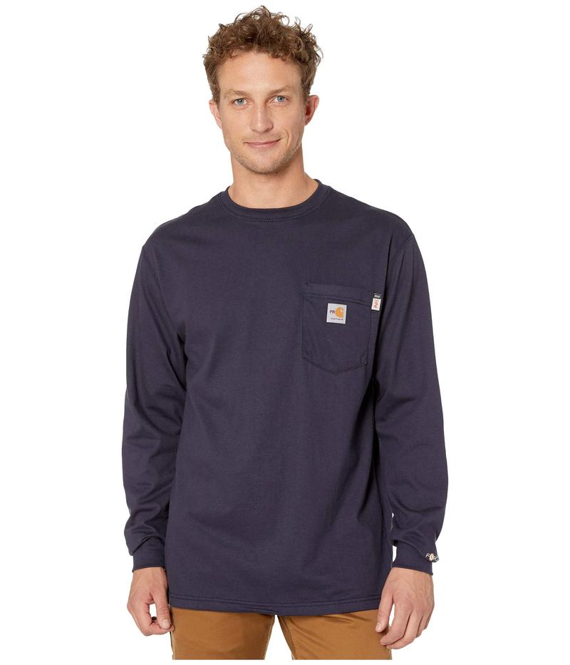 カーハート メンズ シャツ トップス Flame-Resistant (FR) Force Cotton Long Sleeve T-Shirt Dark Navy