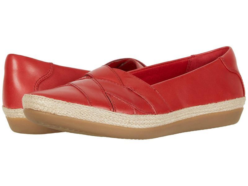 クラークス レディース サンダル シューズ Danelly Shine Red Leather