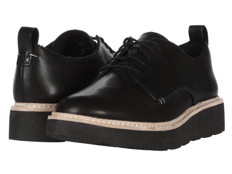 クラークス レディース オックスフォード シューズ Trace Walk Black Leather