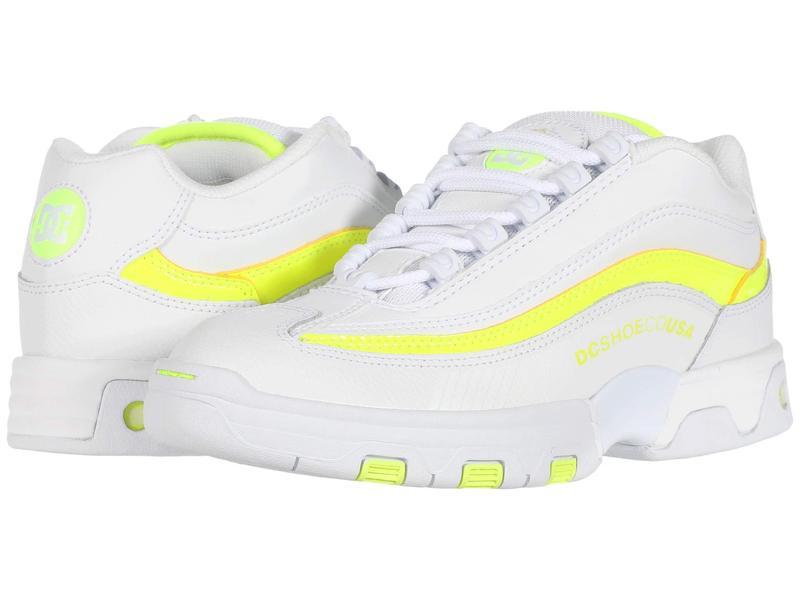 ディーシー レディース スニーカー シューズ Legacy Lite White/Yellow