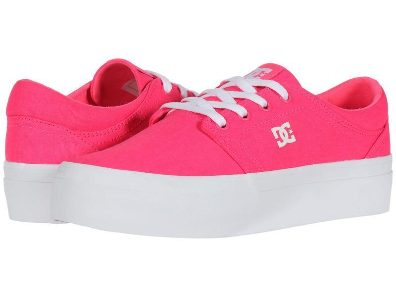 ディーシー レディース スニーカー シューズ Trase Platform TX Hot Pink 2