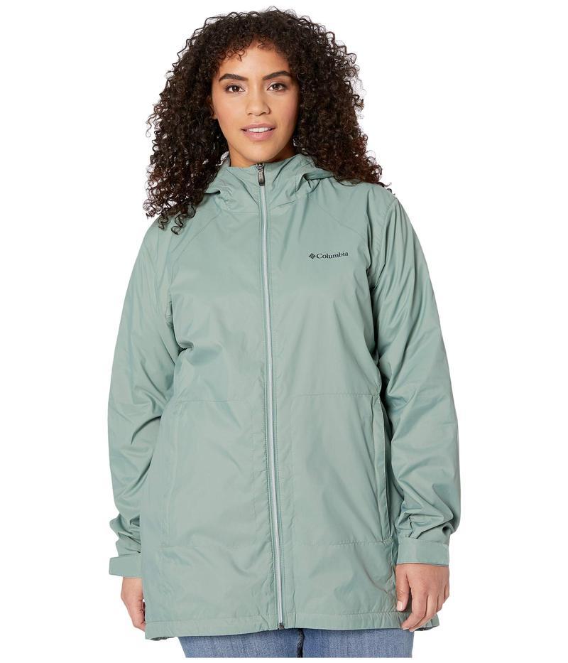 コロンビア レディース コート アウター Plus Size Switchback¢ Lined Long Jacket Light Lichen/Co
