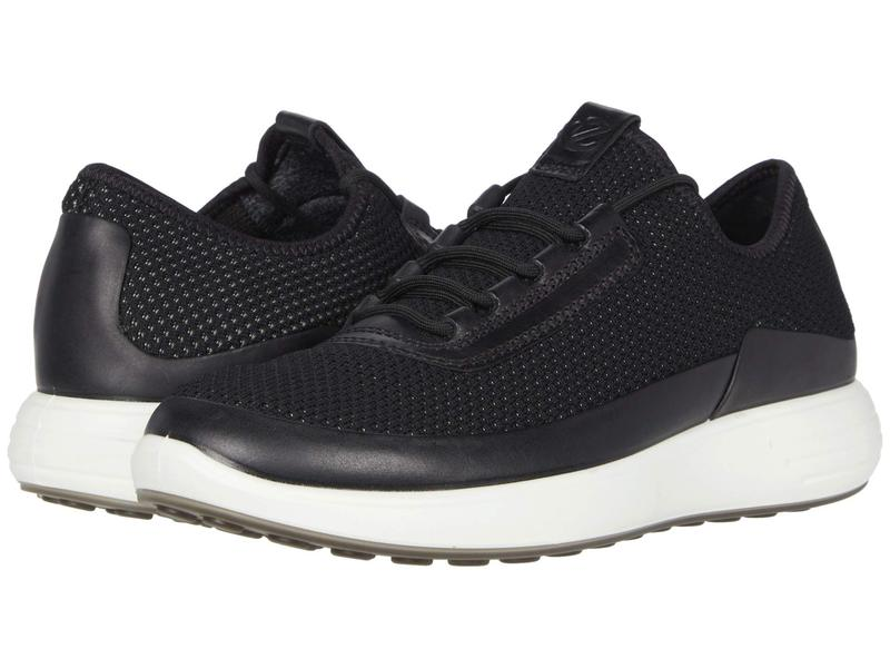 エコー メンズ スニーカー シューズ Soft 7 Runner Summer Sneaker Black/Black