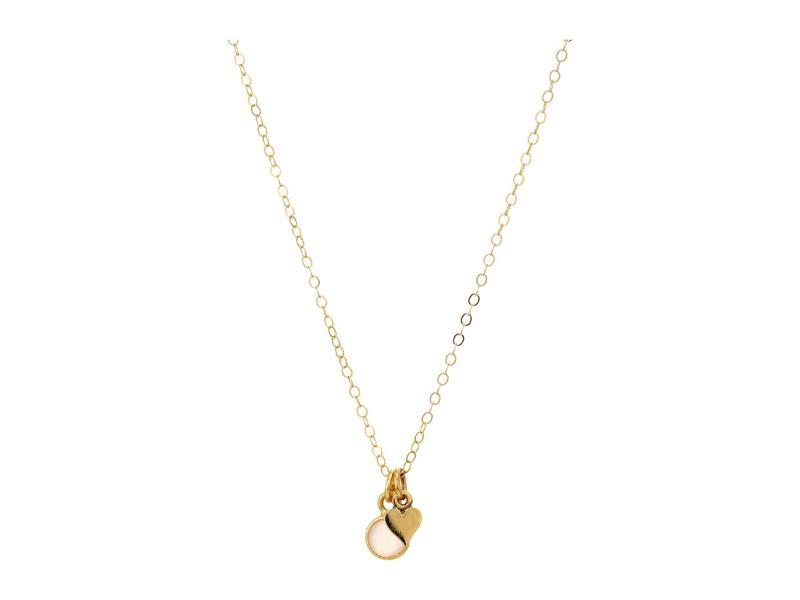 ディーバークレイ レディース ネックレス・チョーカー・ペンダントトップ アクセサリー Mini Valentines Necklace with Mini Heart Charm and Rose Quartz in Gold Tone Gold