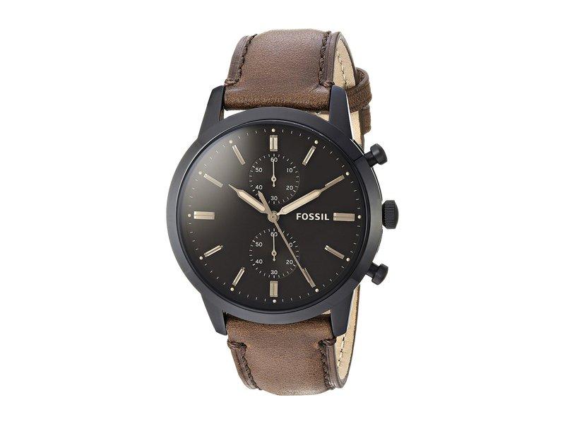 フォッシル メンズ 腕時計 アクセサリー Townsman Chronograph Watch FS5437 Black Br