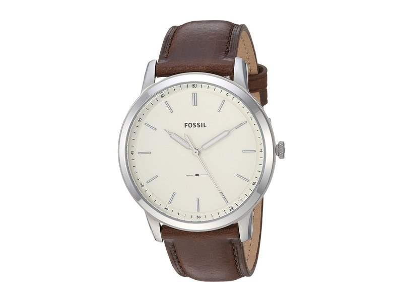 フォッシル メンズ 腕時計 アクセサリー Minimalist Three-Hand Watch FS5439 Silver B