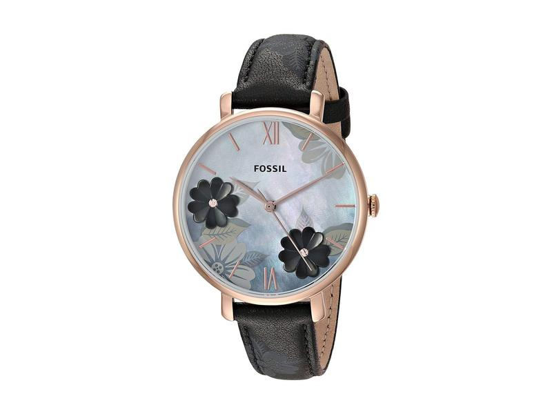 フォッシル レディース 腕時計 アクセサリー Jacqueline Three-Hand Leather Watch ES4535 Rose Gol
