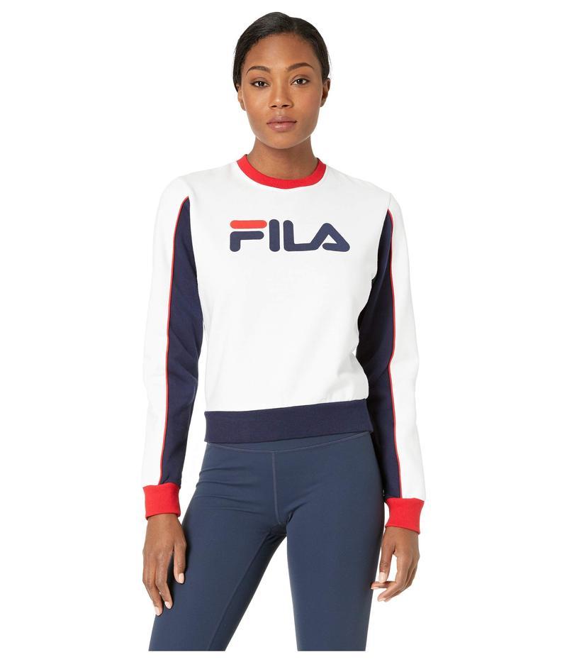 フィラ レディース パーカー・スウェット アウター Nuria Color Block Sweatshirt White/Peacoat/C
