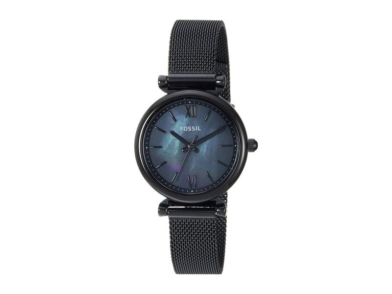 フォッシル レディース 腕時計 アクセサリー Carlie Mini Three-Hand Stainless Steel Watch ES4613 Black St