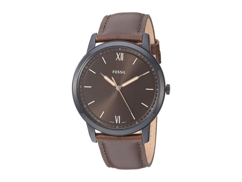 フォッシル メンズ 腕時計 アクセサリー Minimalist Three-Hand Watch FS5551 Black Br