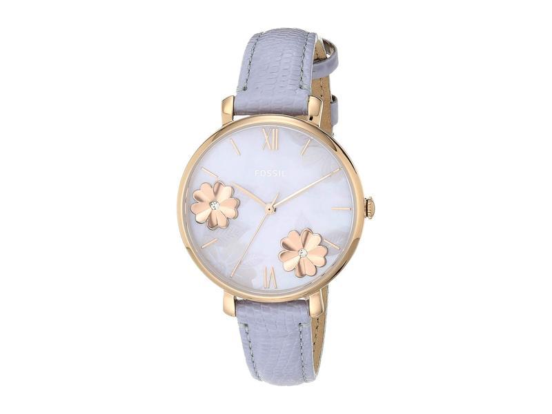 フォッシル レディース 腕時計 アクセサリー Jacqueline Three-Hand Leather Watch ES4814 Rose Gol