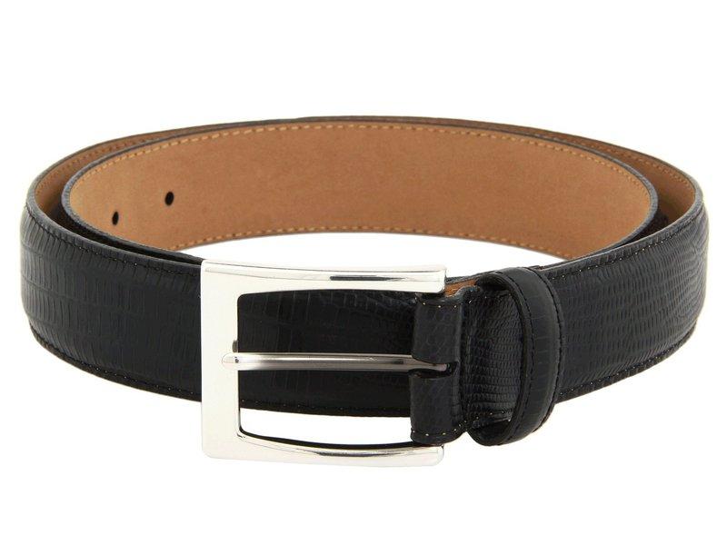 ブライトン メンズ ベルト アクセサリー Toledo Lizard Belt Black