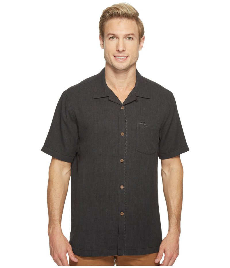 トッミーバハマ メンズ シャツ トップス Royal Bermuda Camp Shirt Black