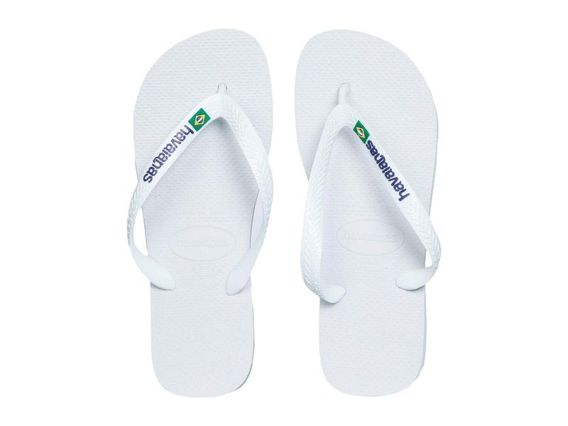 ハワイアナス レディース サンダル シューズ Brasil Logo Unisex Flip Flops White