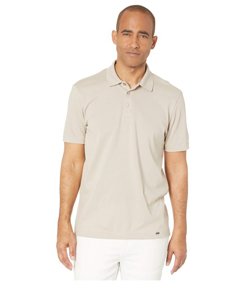 ハンロ メンズ シャツ トップス Living Short Sleeve Polo Shirt Sahara