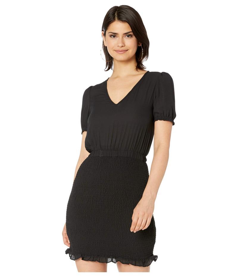 ジャック バイ ビービーダコタ レディース ワンピース トップス Smocked CDC Dress with Puff Sleeve Black