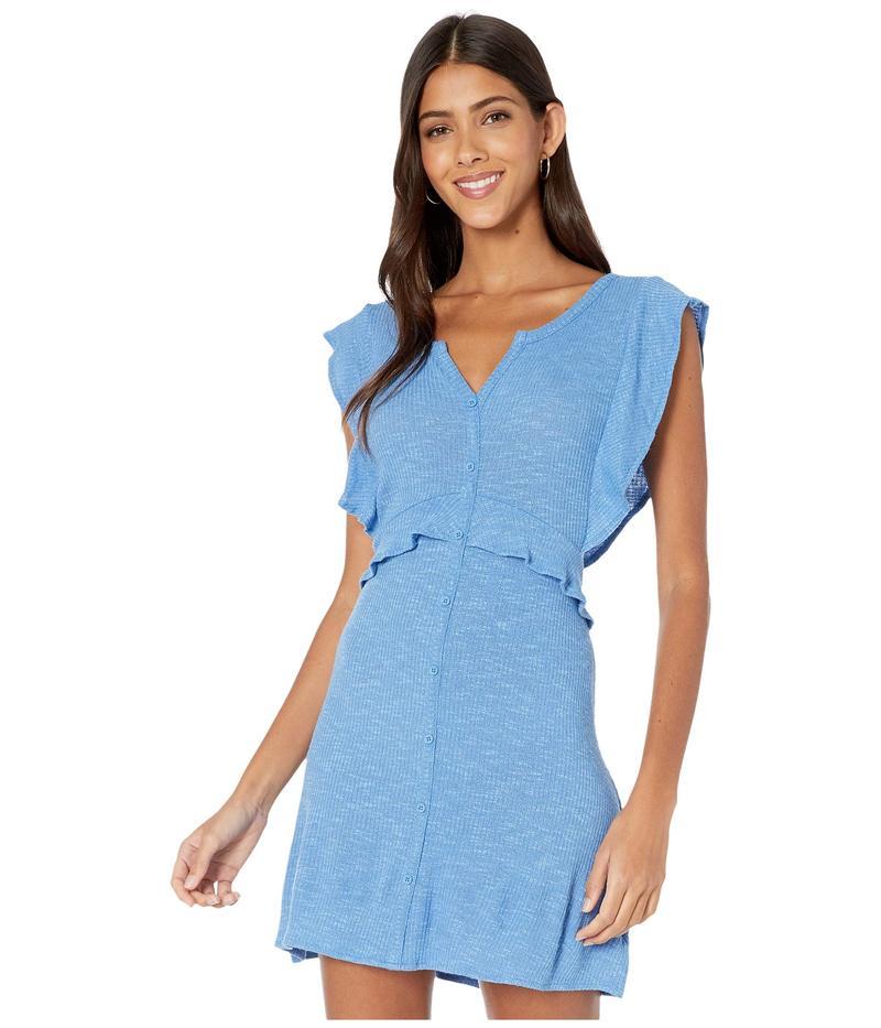 ジャック バイ ビービーダコタ レディース ワンピース トップス Knit Dress with Front Button Faux Placket Sea Blue