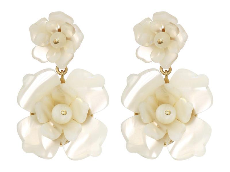 ジェイクルー レディース ピアス・イヤリング アクセサリー Bloomer Acetate Earrings Natural