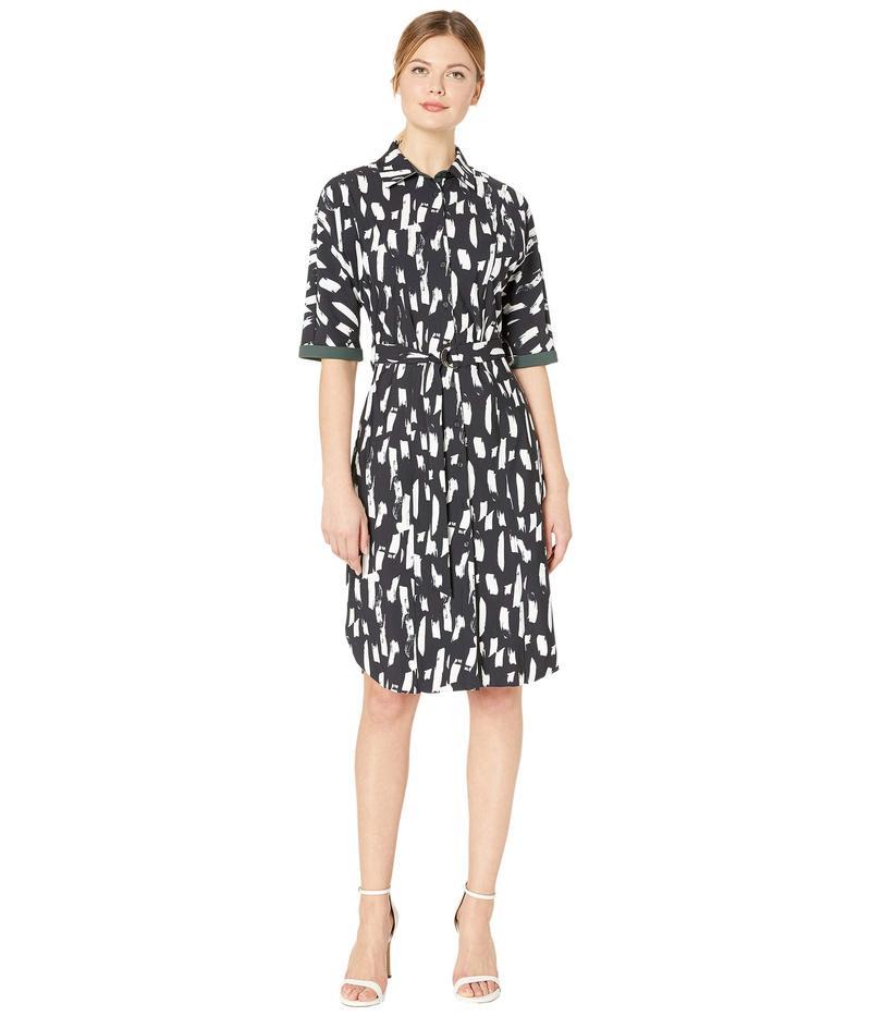 リジー レディース ワンピース トップス Rubia Dress in Printed Microfiber London Dash Bla