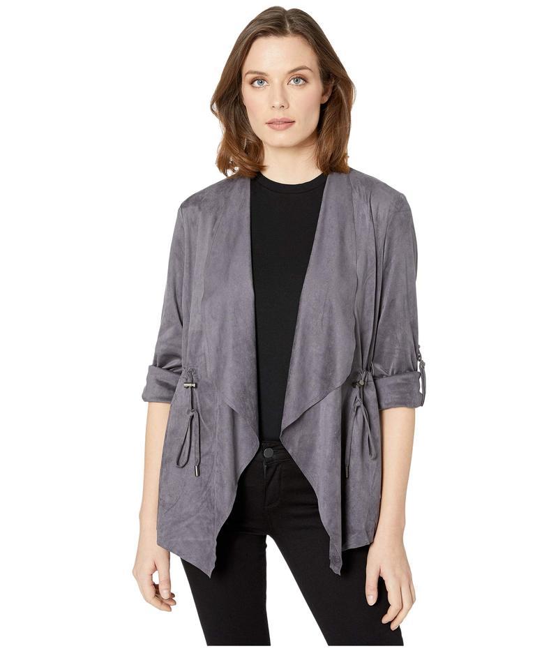 カットフロムザクロス レディース コート アウター Dianne Faux Suede Drape Anorak Jacket Dark Grey