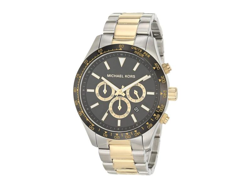 マイケルコース メンズ 腕時計 アクセサリー Layton Chronograph Stainless Steel Watch Silver/Gold Ton