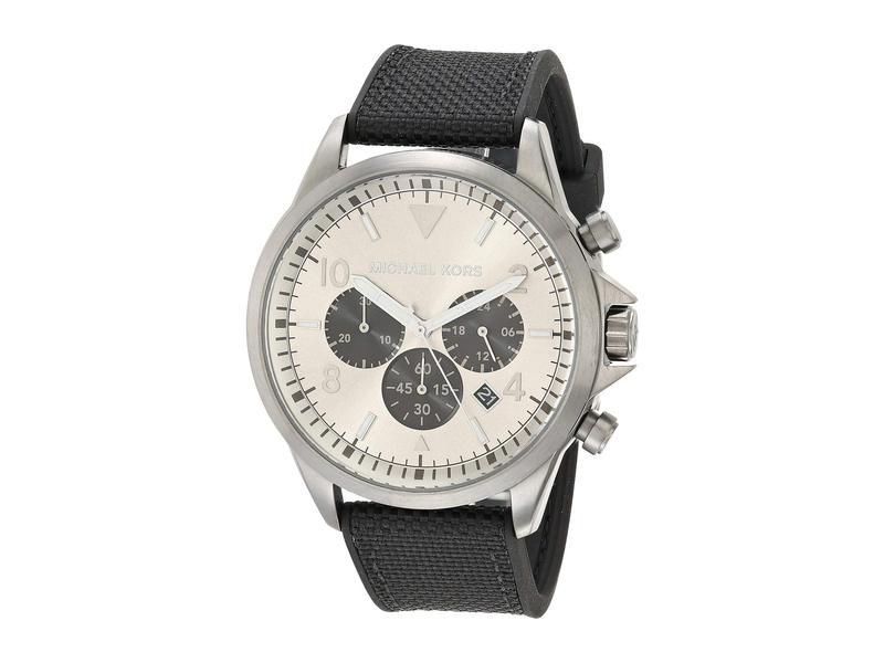 マイケルコース メンズ 腕時計 アクセサリー Gage Chronograph Silicone Watch Black