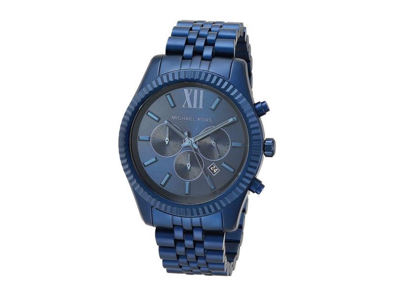 マイケルコース メンズ 腕時計 アクセサリー Lexington Chronograph Aluminum Watch Navy