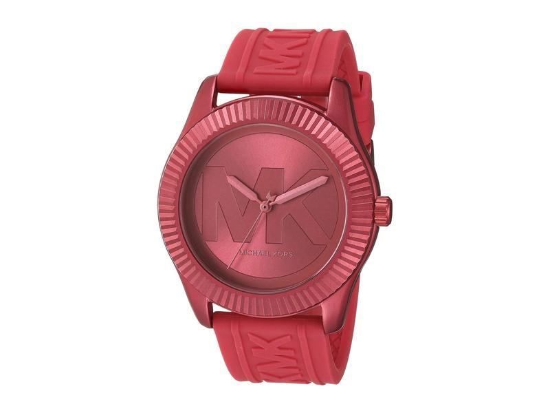マイケルコース レディース 腕時計 アクセサリー Maddye Three-Hand Silicone Watch Pink