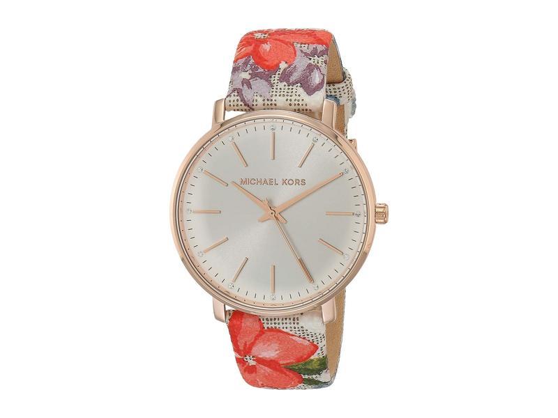 マイケルコース レディース 腕時計 アクセサリー Pyper Three-Hand Leather Watch Multi Floral