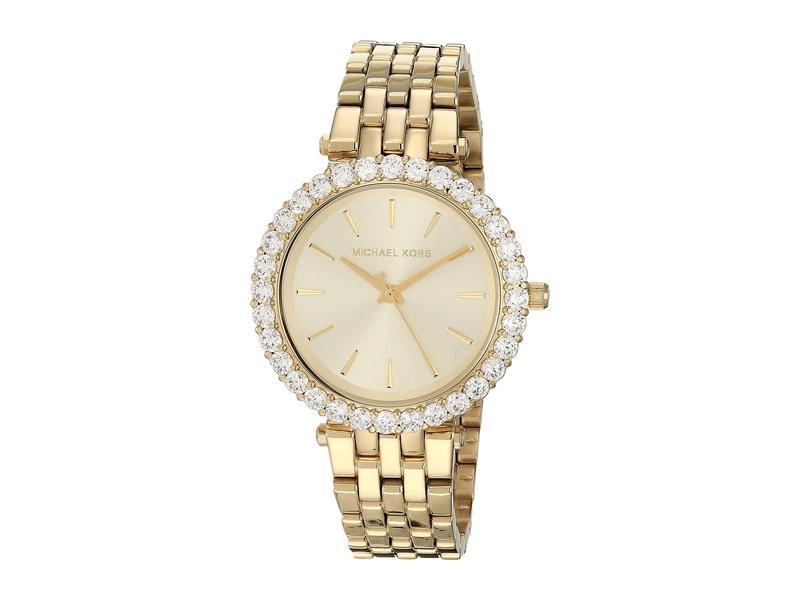 マイケルコース レディース 腕時計 アクセサリー Darci Three-Hand Stainless Steel Watch Gold
