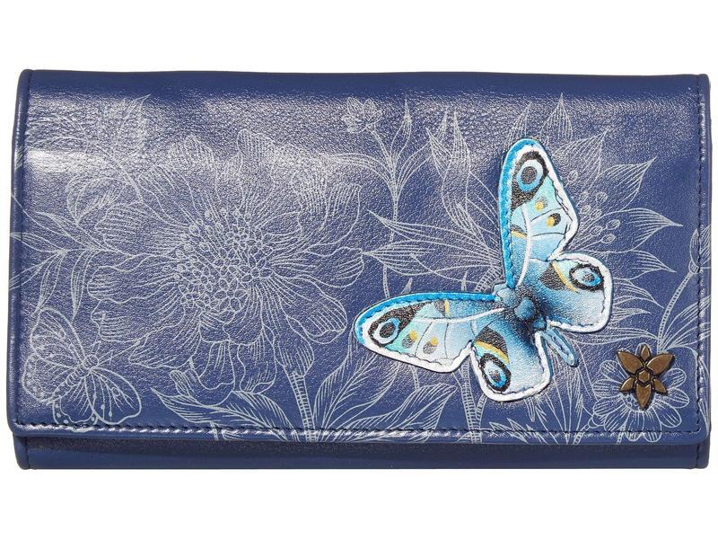 アヌスカ レディース 財布 アクセサリー Triple Fold RFID Clutch Wallet - 1150 Garden of Delig