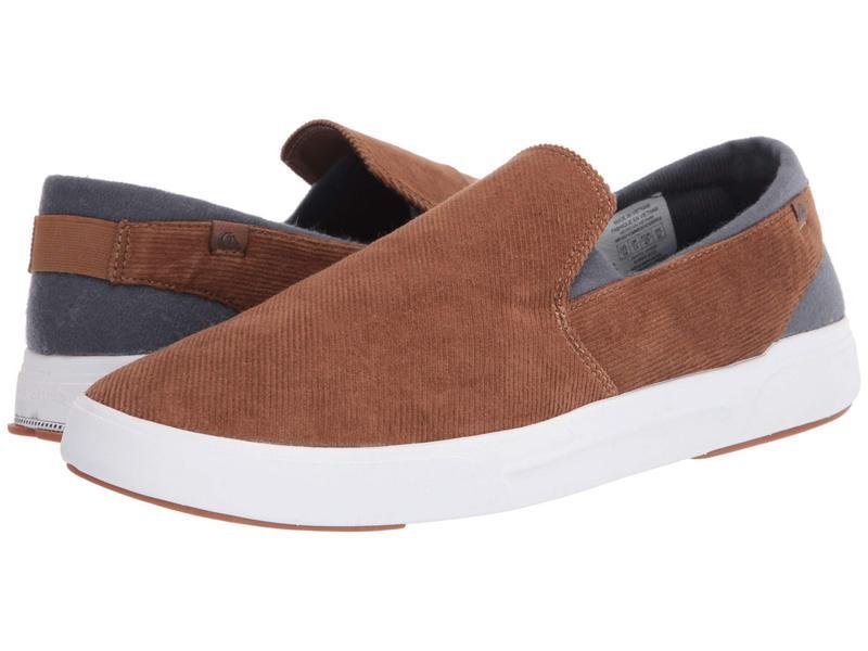 クイックシルバー メンズ スニーカー シューズ Surf Check II Premium Brown/Brown/Whi