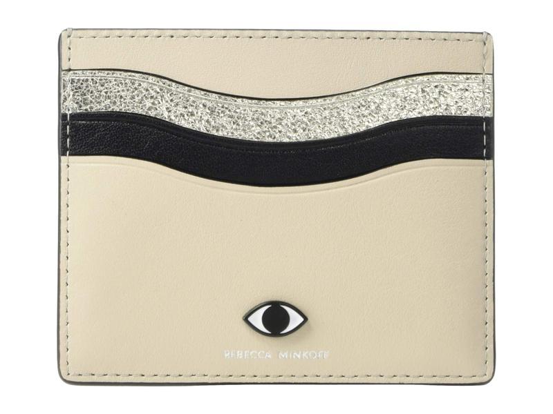 レベッカミンコフ レディース 財布 アクセサリー Large Card Case w/ Eye Stud Tahini Multi