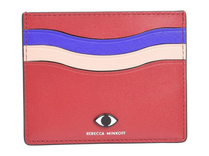 レベッカミンコフ レディース 財布 アクセサリー Large Card Case w/ Eye Stud Paprika Multi