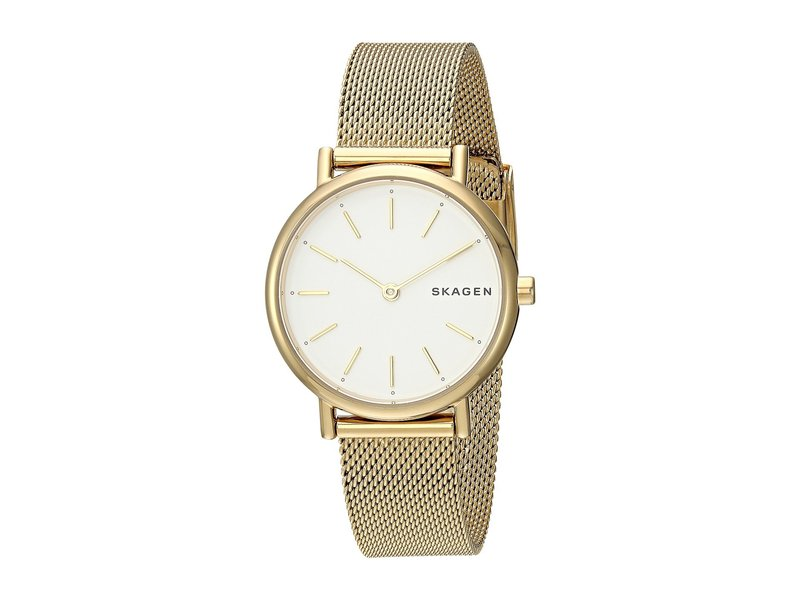 スカーゲン レディース 腕時計 アクセサリー Signatur Slim Two-Hand Watch SKW2693 Gold St