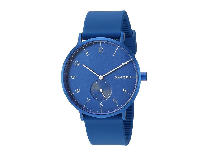 スカーゲン メンズ 腕時計 アクセサリー Aaren Kulor 41mm Three-Hand Silicone Watch SKW6508 Blue Si