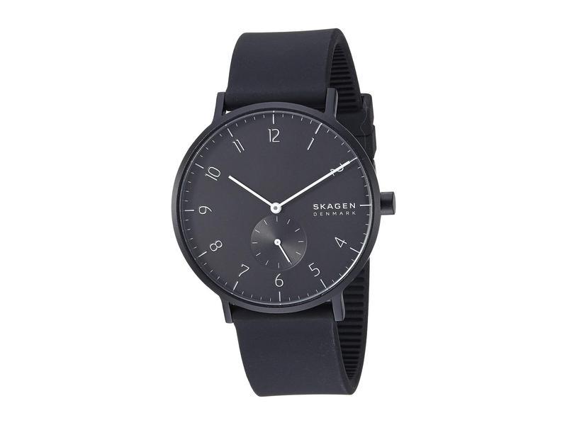 スカーゲン メンズ 腕時計 アクセサリー Aaren Kulor 41mm Three-Hand Silicone Watch SKW6544 Black S