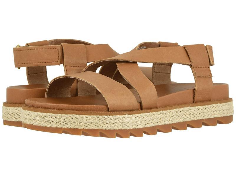 ソレル レディース サンダル シューズ Roaming¢ Crisscross Sandal Jute Camel Brown