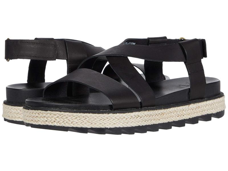 ソレル レディース サンダル シューズ Roaming¢ Crisscross Sandal Jute Black