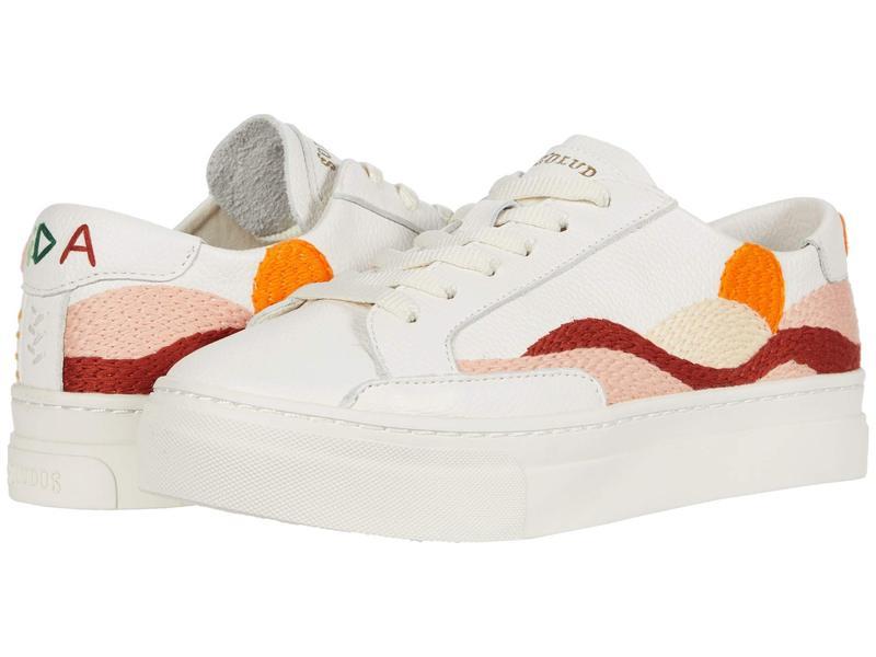 ソルドス レディース スニーカー シューズ Hawaiin Fauna Platform Sneaker White