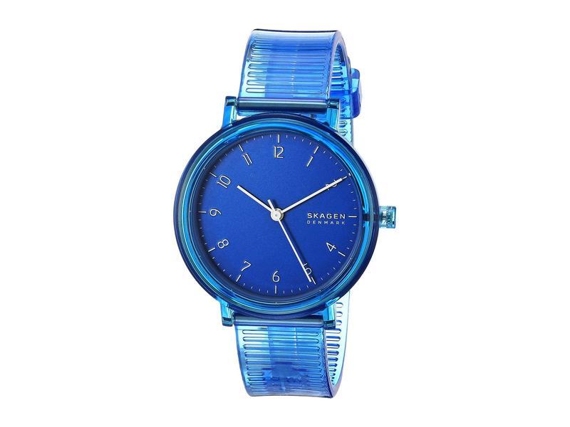 スカーゲン レディース 腕時計 アクセサリー Aaren Transparent Three-Hand Watch SKW2855 Blue Si